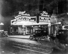 Loew's & United Artists Ohio Theatre, 39 East State Street, Columbus, OH - 02 - Marquee at night from Northeast - 1928 (kocojim) Tags: joancrawford photo night movietheatre building loc libraryofcongress neon columbus marquee oh ohio sign theatre kocojim unitedstates us