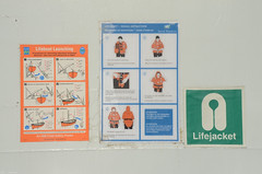 Rescue instructions (Webkrab) Tags: ifttt 500px irish ferries oscar wild ferry boat marine ship shipping celtic sea lifeboat lifecraft nautic safety instructions lifejacket sign day sunny