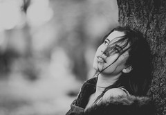 no hope (howesyourphoto) Tags: fuji fujifilm fujixt3 xt3 canon canon85mm 85mm bokeh bokehkillers bokehlicious portrait blackandwhite acros moodyports autumn