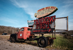 Powder Mill Hill Mobile Advertising. (Mr. Pick) Tags: truck old sign folk art homemade advertising giles county tn tennessee