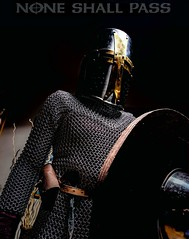 Medieval Me (N8 M.) Tags: medieval armor chainmail maille helmet shield crusader noneshallpass epicwarrior warrior dragonslayer