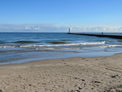 Sodus Point August (Cathy Contant) Tags: sodus point soduspoint lakeontario greatlakes lake water lighthouse pier beach waves sand waynecony waynecountyny