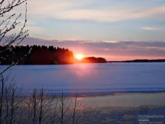 Sunset (PeepeT) Tags: nokia pitkäniemi talvi winter snow lumi auringonlasku sunset tammikuu january