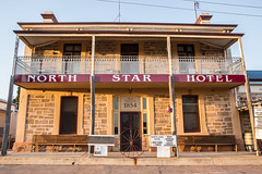 North Star Hotel (Malcom Lang) Tags: pub hotel motel watering hole north star melrose 1854 beer wine spirits meals espresso coffee ensuite accommodation windows old veranda posts brick sighn seat bench door balcony railing barrel frame wires alley farnorth mt remarkable southaustralia southern south australia australian aussie