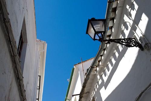 White Lane and Blue Sky