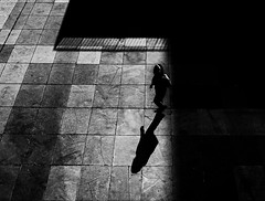 l i m i n a l i t y (Gaia Rampon) Tags: contemporarylifestyle isolation geometry pavement urbanlife urban contemporarylife contemporary supermodernity surmodernite neitherherenorthere inbetween liminalspaces liminality noiretblanc blackandwhite streetphotography streetphotographer street
