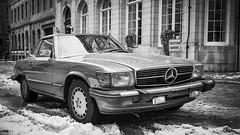 Old School Mercedes-Benz 450SLC (FSquare Photography) Tags: leica m6 kodak d76 11 ilford delta 400 200 black white film mercedes 450slc old montreal vintage car 1980 summicron 35mm snow winter