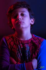 My SpiderSon (aouwaiss) Tags: pentax k3 gels red blue son portrait