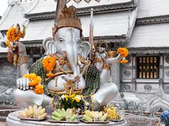 Silver Ganesh (SLpixeLS) Tags: thailand chiangmai temple silvertemple statue ganesh ganesha buddhist buddhism