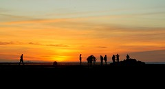 Rye back beach - people silhouettes (PsJeremy - Lots to catch up after travelling...) Tags: people silhouettes sunset dusk abcnews sony weather summer australia melbourne