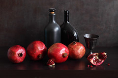 Le Rouge et le Noir (panga_ua) Tags: redandblack red black metal ceramics glass pomegranates seeds
