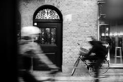Street Photography in Copenhagen, Denmark (Frederik Trovatten) Tags: copenhagen bike bikes streetphotography streetphoto streets people city kbh blackandwhite blackandwhitephotography fuji fujifilm xt3 noir monochrome monochromatic longexposure movement