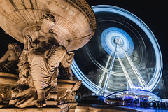 30 Seconds in Budapest (©skarson) Tags: longexposure budapest hungary europe funfair ferriswheel canon canoneos6d eos 6d 1635 night nightphotography