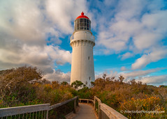 Cape Schanck Lighthouse, Victoria (Peter.Stokes) Tags: australia australian autumn coastline colour colourphotography landscape landscapes outdoors photo photography saltwater skies sunset vacations victoria water awayfromitall coast clouds countryside sea sky waves