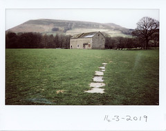 Thursday 14th March (ronet) Tags: fuji fujiinstax200wide thursdaywalk barn edale film instantfilm kinderscout peakdistrict scanned uata:project=tw673 utata