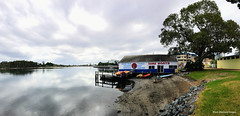 Breckenridge Channel & Red Spot Boatshed, Forster, NSW (Black Diamond Images) Tags: nsw forster breckenridgechannel redspotboatshed panorama tourism australia fishermanswharf iphone wallislake appleiphone iphonepanorama milesisland nswtourism greatlakestourism greatlakesnsw iphone7s appleiphone7plus iphone7plusbackdualcamera iphonephotography shotoniphone