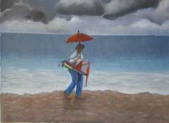 summer is over (Renoil L.) Tags: estate autunno pioggia vucumpra venditoriambulanti ombrelli mare