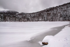 Le lac de la Lauch (mrieffly) Tags: als htrhin hautesvosges massifdumarkstein valléedeguebwiller neige glaçe monochrome canoneos50d