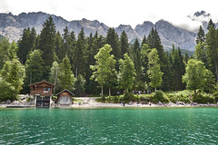 Emerald coloured waters of Lake Eibsee