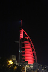 Burj Al Arab 4 (cj_hunter) Tags: burjalarab jumeirah dubai uae hotel architecture skyscraper sea coast coastal luxury luxurious boat sightseeing travel night light lights
