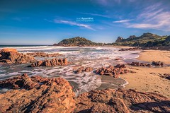 Su_Sirboni_190004 (ivan.sgualdini) Tags: 5dmarkiv beach canon day longexposure ogliastra red rocks sand sardegna sardinia sea seascape stones sunny water waves wild winter