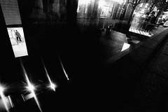 P2024144 Urban space (soyokazeojisan) Tags: japan osaka city street night light people bw blackandwhite digital olympus em1markⅱ 918mm 2019