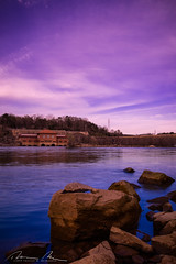 Blue on the rocks (McMannis Photographic) Tags: photography lakewateree southcarolina singhraybluengold destination travel effects blueandgold explore sc singhray singhrayfilter southeast tourism
