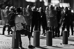 And so what ? (JM@MC) Tags: marseille protest nouailles police night reportage blackandwhite noiretblanc streetphotography