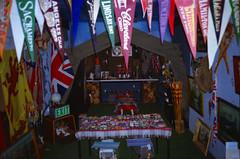 Scouts... (Esmik D'Aguiar) Tags: scouts memorabilia flags coffee pot bow arrow tent badges rucksack picture table chairs nottingham uk kodack olympus mju