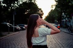 Yashica Electro GX / Ultramax +1 (paulrefn) Tags: portrait woman female 35mm berlin yashica35gx analog analogue rangefinder rangefinderphotography grain urban grainisgood ishootfilm yashica kodak film filmphotography filmphoto germany ambiance portraitphotography kodak400