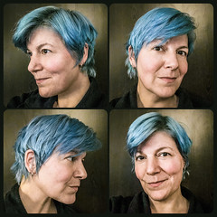 Least complicated (Melissa Maples) Tags: antalya turkey türkiye asia 土耳其 apple iphone iphonex cameraphone autumn multipanel tetraptych me melissa maples selfportrait woman bluehair