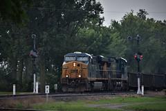 Give em Props (csx7661) Tags: train railroad railfan signals deshler ohio baltimoreandohio railroadhistory railroadphotography explore summer csx csxt freight ge