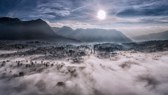 Highland sea of clouds (3dgor 加農炮) Tags: clouds drone seaofclouds indonesia highland pano