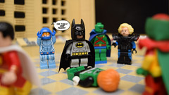 """One Punch!"" (Andrew Cookston) Tags: lego justice league international green lantern guy gardner batman bruce wayne 1980s 80s dc comics andrew cookston andrewcookston"