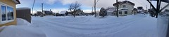 After a Blizzard (sjrankin) Tags: 18january2019 edited panorama road snow houses cars wires lines neighborhood trees kitahiroshima hokkaido japan