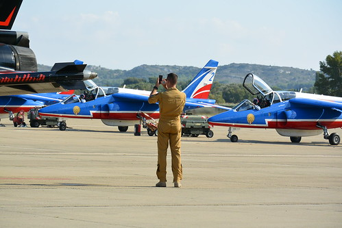 """Marty"" RSD coach filming Start up procedure Patrouille De France"