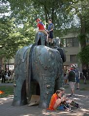 Elephant Statue (Scott 97006) Tags: art statue elephant kids play park unique