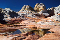 White Pocket (valentina425) Tags: white pocket arizona southwest desert swirl rock geology canyon landscape sand monument sky reflections