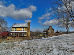 Somerset Historical Society (George Neat) Tags: somerset county old historical society log scenic landscapes buildings structures clouds georgeneat patriotportraits neatroadtrips pa pennsylvania