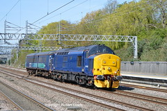 37422 passing Tamworth on the 04-05-2016 with the 5Z59 Crewe coal sidings to Norwich crown point. (Robert Lewis(railhereford)) Tags: 37422