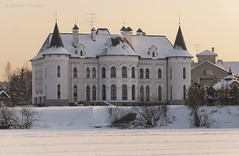 Modern castle (Lyutik966) Tags: architecture building castle mansion myakinino russia moscowriver snow coast window roof