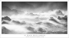 Storm Surf, Big Sur (G Dan Mitchell) Tags: bigsur pacific ocean coast sea stacks rocks waves surf storm spray autumn winter blackandwhite monochrome seascape landscape nature california usa north america