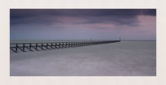 The Divide (hall1705) Tags: thedivide longexposure westsussex climping mouthoftheriver riverarun beach sea seascape hightide water clouds