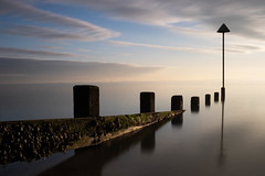 Late sun over the Thames. (daveknight1946) Tags: essex southend leefilters longexposure water riverthames breakwater clouds greatphotographers