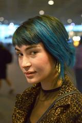 Sabrina (radargeek) Tags: sabrina charlottedouglasinternationalairport charlotte airport october bluehair clt sc southcarolina 2018 portrait earrings fashion model purelyiconic