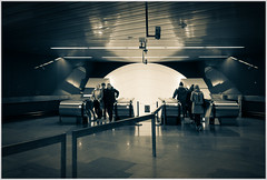 The Prague Perspectives (12) (kurtwolf303) Tags: subway underground people entsättigt monochrome ubahn subwaystation prag praha prague tschechien kurtwolf303 mft omd olympusem1 urban streetphotography