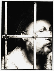 Spooky (Martyn.A.Smith LRPS) Tags: monochrome window person man frame spooky face strange fujifilm xt2