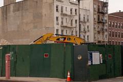 The piles of rubble fka LICH (molybdena) Tags: newyorkcity fireescape newyork caterpillar brooklyn construction cobblehill cloudy nyc unitedstates us