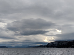 Looking Towards Rorvik (David J. Greer) Tags: passage norway rubicon3 adventure sailing travel coastal sailtrainexplore norwegian sea ocean water grey day sky landscape clouds