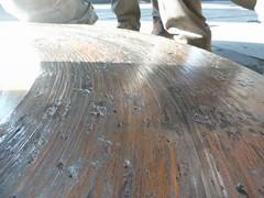 Resize of P1360898 (OpalStream) Tags: rudder marine vessel repair works overhauling workshop measurements filler gauge dirt